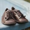 Kép 5/5 - GITA bohemian MÁRVÁNYOS BARNA kézműves bőr cipő