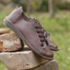 Kép 4/5 - GITA bohemian MÁRVÁNYOS BARNA kézműves bőr cipő