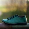 Kép 3/3 - GITA bohemian ZÖLD kézműves bőr cipő