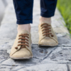 Kép 2/2 - GITA bohemian ANTIK BARNA kézműves bőr cipő