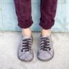 Kép 2/2 - GITA bohemian ANTIK SZÜRKE kézműves bőr cipő