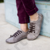 Kép 1/2 - GITA bohemian ANTIK SZÜRKE kézműves bőr cipő
