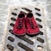 Kép 1/4 - GITA bohemian BORDÓ NUBUK kézműves bőr cipő