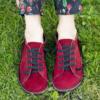 Kép 3/4 - GITA bohemian BORDÓ NUBUK kézműves bőr cipő