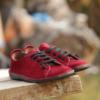 Kép 4/4 - GITA bohemian BORDÓ NUBUK kézműves bőr cipő