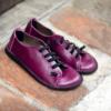Kép 2/3 - GITA bohemian CIKLÁMEN kézműves bőr cipő
