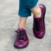 Kép 3/3 - GITA bohemian CIKLÁMEN kézműves bőr cipő
