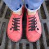 Kép 1/2 - GITA bohemian EPERPIROS kézműves bőr cipő
