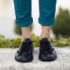 Kép 2/3 - GITA bohemian FEKETE kézműves bőr cipő