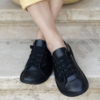 Kép 3/3 - GITA bohemian FEKETE kézműves bőr cipő