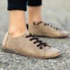 Kép 2/4 - GITA bohemian HOMOK kézműves bőr cipő
