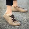 Kép 1/4 - GITA bohemian HOMOK kézműves bőr cipő