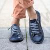 Kép 1/2 - GITA bohemian KÉK KARCOS kézműves bőr cipő