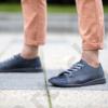 Kép 2/2 - GITA bohemian KÉK KARCOS kézműves bőr cipő