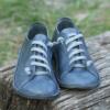 Kép 3/3 - GITA bohemian KÉKESSZÜRKE kézműves bőr cipő