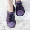 Kép 2/2 - GITA bohemian KÉTSZÍNŰ PADLIZSÁN kézműves bőr cipő