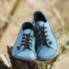 Kép 2/3 - GITA bohemian PETROLKÉK kézműves bőr cipő
