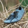 Kép 1/3 - GITA bohemian PETROLKÉK kézműves bőr cipő