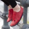 Kép 1/6 - GITA bohemian PIROS kézműves bőr cipő