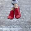 Kép 3/6 - GITA bohemian PIROS kézműves bőr cipő