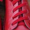 Kép 6/6 - GITA bohemian PIROS kézműves bőr cipő