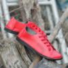 Kép 5/6 - GITA bohemian PIROS kézműves bőr cipő
