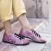 Kép 1/2 - GITA bohemian PÚDER VIRÁGOS kézműves bőr cipő