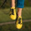 Kép 4/5 - GITA bohemian SÁRGA kézműves bőr cipő