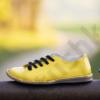 Kép 2/5 - GITA bohemian SÁRGA kézműves bőr cipő
