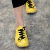 Kép 1/5 - GITA bohemian SÁRGA kézműves bőr cipő