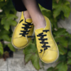 Kép 5/5 - GITA bohemian SÁRGA kézműves bőr cipő