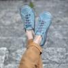 Kép 3/3 - GITA bohemian TÜRKIZKÉK kézműves bőr cipő