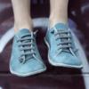 Kép 1/3 - GITA bohemian TÜRKIZKÉK kézműves bőr cipő