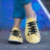 Kép 1/4 - GITA bohemian VAJSÁRGA kézműves bőr cipő