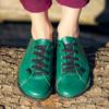 Kép 2/3 - GITA bohemian ZÖLD kézműves bőr cipő
