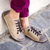 Kép 2/2 - GITA bohemian KÉTSZÍNŰ HOMOK kézműves bőr cipő