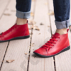 Kép 4/4 - GITA boots PIROS kézműves bőr cipő