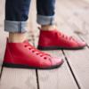 Kép 2/4 - GITA boots PIROS kézműves bőr cipő