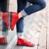 Kép 3/4 - GITA boots PIROS kézműves bőr cipő