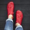 Kép 1/4 - GITA boots PIROS kézműves bőr cipő
