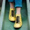 Kép 1/3 - GITA boots SÁRGA kézműves bőr cipő