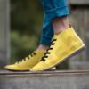 Kép 2/3 - GITA boots SÁRGA kézműves bőr cipő