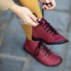 Kép 2/2 - GITA boots BORDÓ kézműves bőr cipő