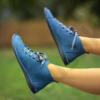Kép 1/2 - GITA boots PETROL KÉK kézműves bőr cipő