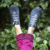 Kép 2/2 - GITA boots KÉKESSZÜRKE kézműves bőr cipő