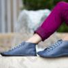 Kép 1/2 - GITA boots KÉKESSZÜRKE kézműves bőr cipő