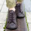 Kép 2/3 - GITA boots SÖTÉT BARNA kézműves bőr cipő