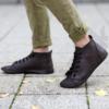 Kép 3/3 - GITA boots SÖTÉT BARNA kézműves bőr cipő
