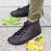 Kép 1/3 - GITA boots SÖTÉT BARNA kézműves bőr cipő