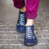 Kép 1/3 - GITA boots ÉJKÉK kézműves bőr cipő